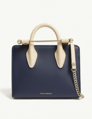 STRATHBERRY Nano Tri-colour leather tote