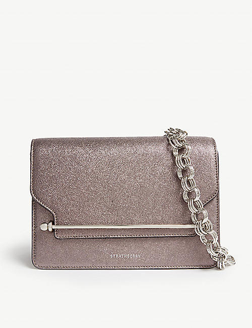 a999f764845e STRATHBERRY East/West metallic leather cross-body