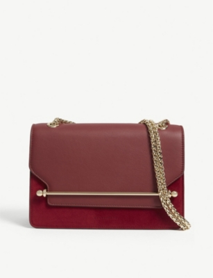 STRATHBERRY East/west suede and leather cross-body bag