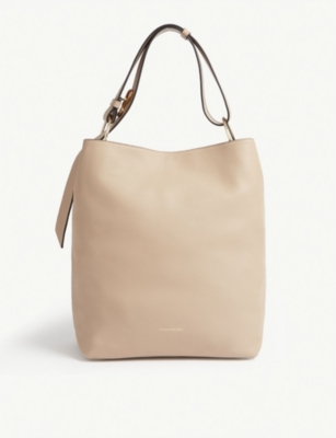 STRATHBERRY Lana grained leather bucket bag