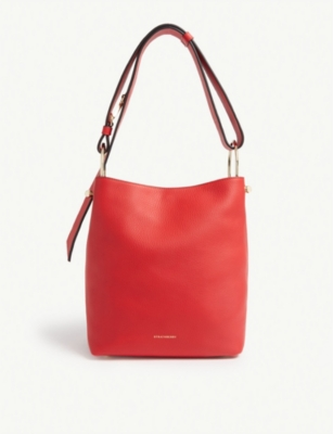 STRATHBERRY Lana midi grained leather bucket bag