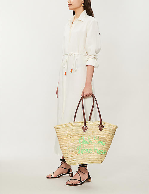EDIT58 Palm leaf shoulder bag