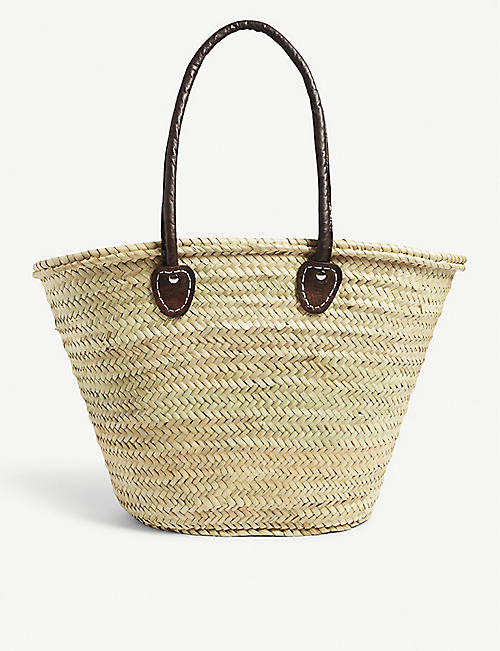 EDIT58 Raffia basket tote bag