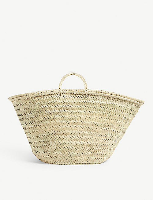 EDIT58 Raffia woven basket bag
