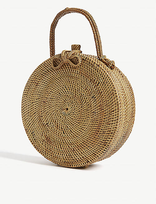 EDIT58 Raffia circle top handle bag
