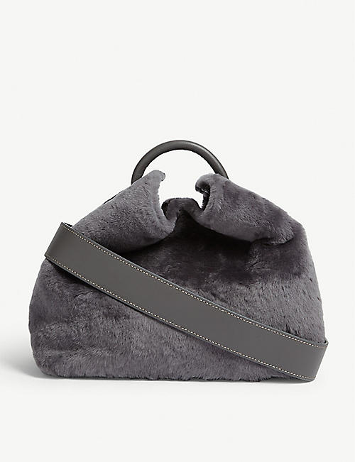 ELLEME Faux fur Baozi shoulder bag