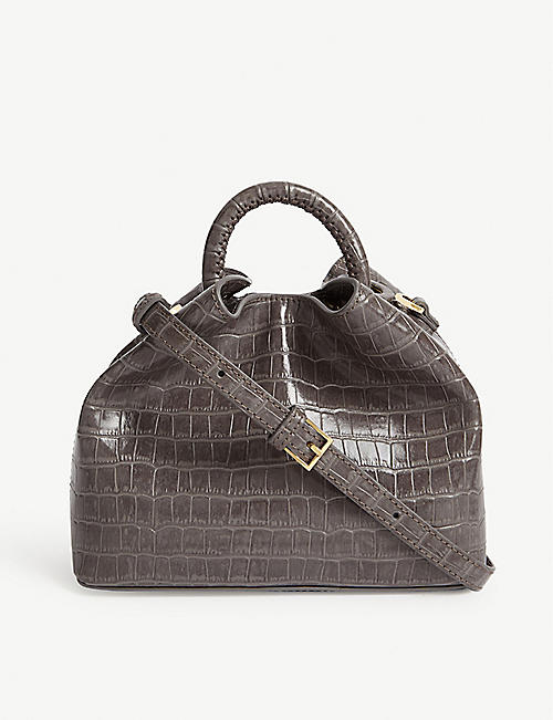 ELLEME Baozi croc-embossed leather shoulder bag