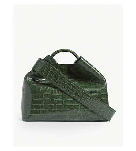Elleme Raisin croc-embossed leather shoulder bag
