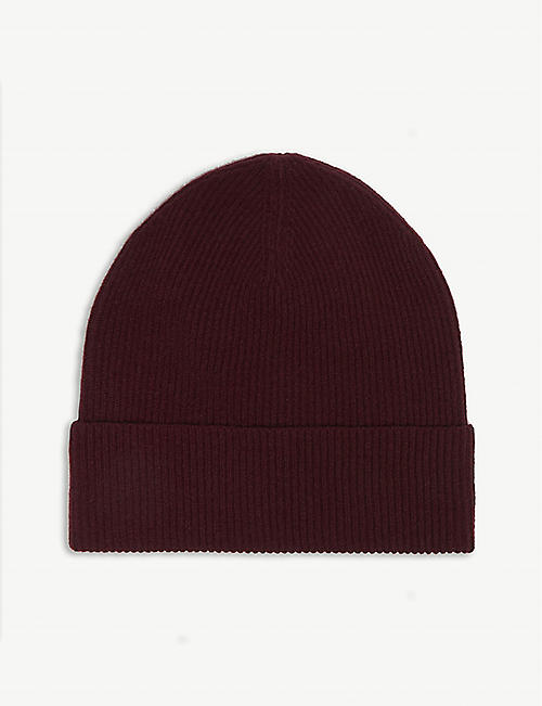 LOU DUNGATE Exeter cashmere ribbed beanie b3c191cc2b43