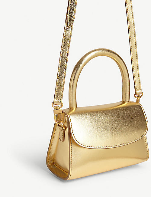 BY FAR Metallic leather mini bag