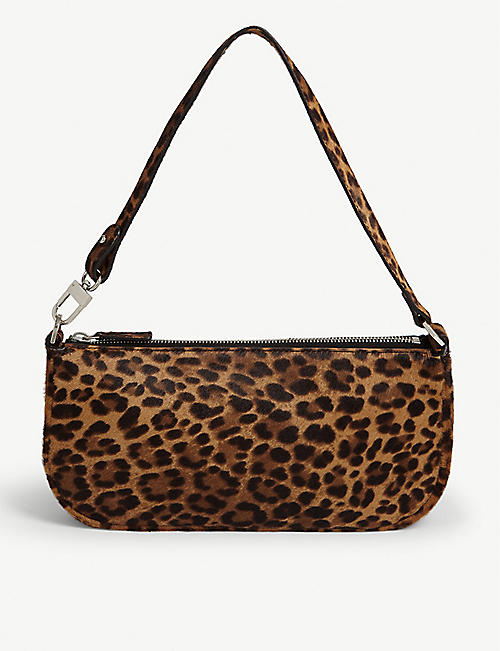 BY FAR Rachel Leopard shoulder bag