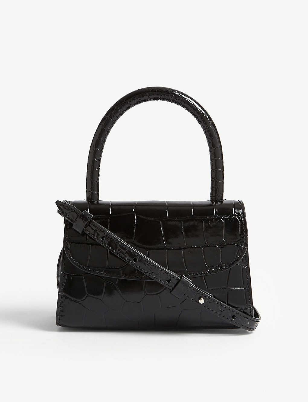 aa226311 BY FAR - Croc-embossed leather mini tote   Selfridges.com