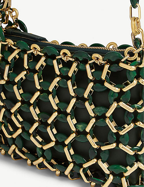 BY FAR Capria beaded shoulder bag