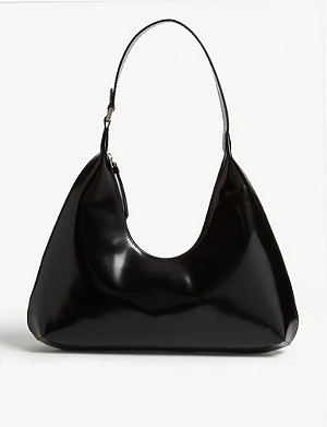 BY FAR Amber patent leather mini bag