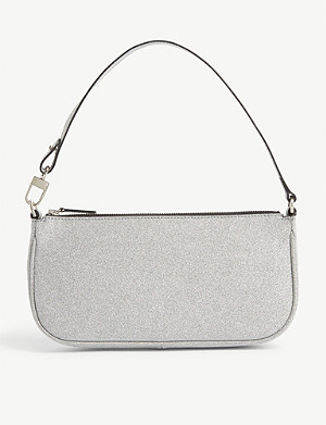 BY FAR Rachel glitter shoulder bag
