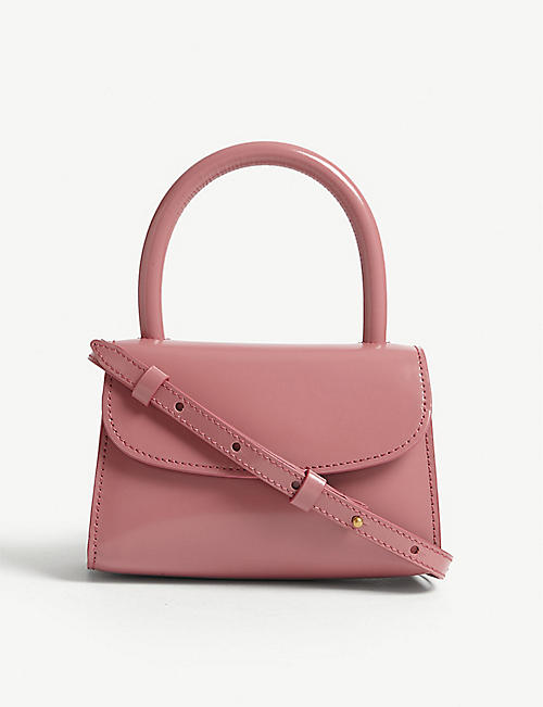 BY FAR Mini smooth leather cross-body bag