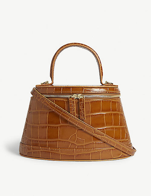 BY FAR Annie croc-embossed bag