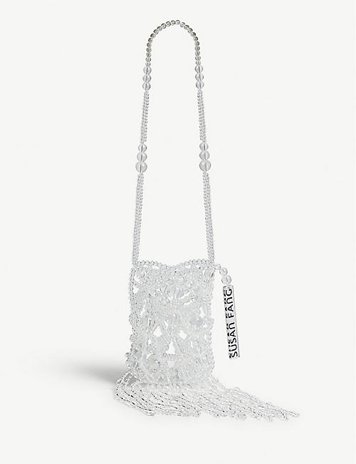 SUSAN FANG Bubble Tassel crystal-glass cross-body bag
