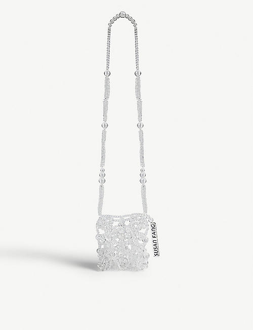 SUSAN FANG Crystal bubble passport cross-body bag
