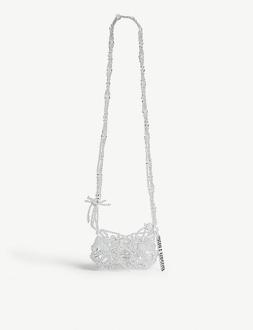 SUSAN FANG Crystal bubble phone cross-body bag
