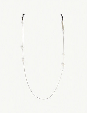 FRAME CHAIN Pearl white gold-plated glasses chain