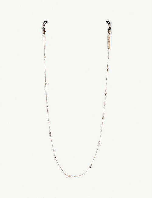 FRAME CHAIN: Shine Bright rose gold-plated glasses chain