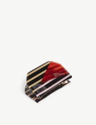 VALET Amelia patterned resin hair clip