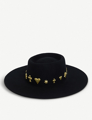 LACK OF COLOR Celestial Boater wool hat
