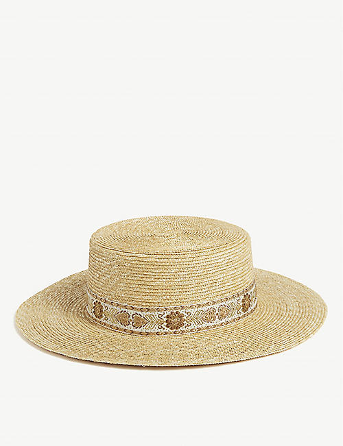 LACK OF COLOR Spencer straw boater hat