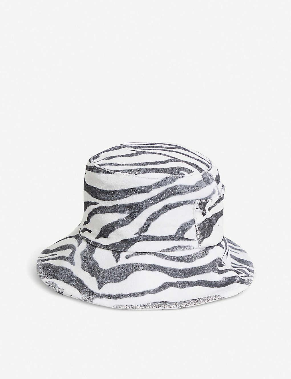 b072a4223f4fc1 LACK OF COLOR - Wave zebra-print cotton-canvas bucket hat ...