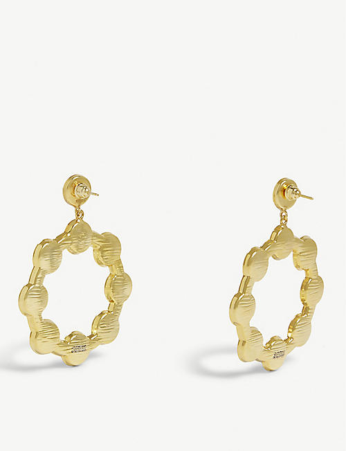 SORU Baroque 18ct yellow-gold and sterling silver hoop earrings