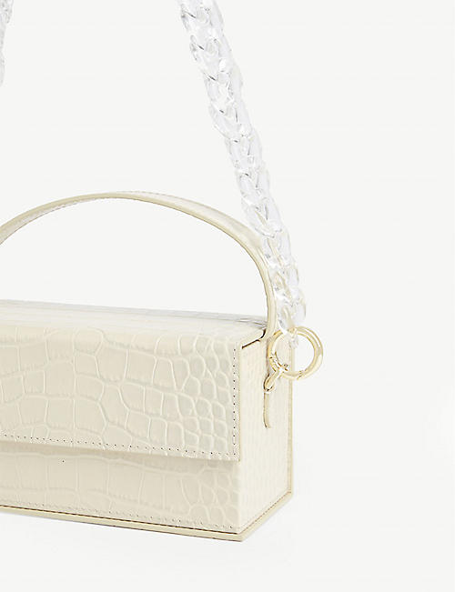 L'AFSHAR Ida croc-embossed leather bag