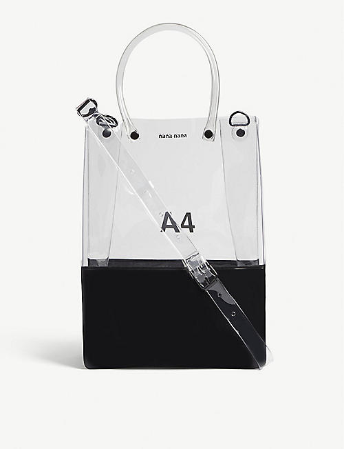 NANA-NANA A4 transparent PVC tote bag