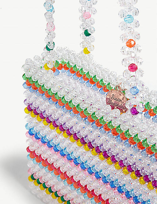 SUSAN ALEXANDRA Merry multi-coloured beaded tote bag