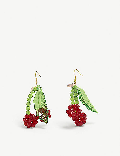 SUSAN ALEXANDRA Lolita cherry earrings