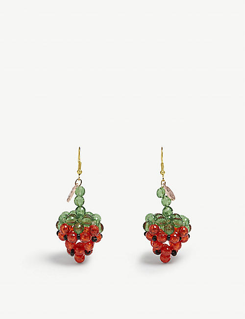 SUSAN ALEXANDRA Fragola strawberry earrings