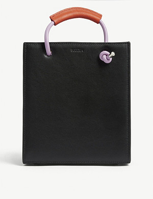 SCOTRIA Swatch mini leather tote