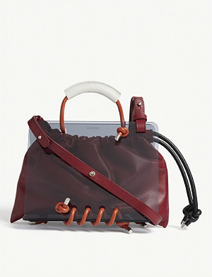 SCOTRIA Panorama plexiglass and leather tote