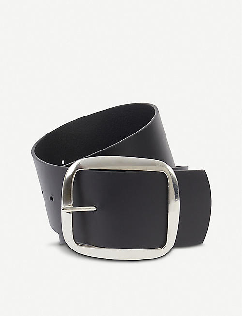 BLACK AND BROWN Liana leather belt