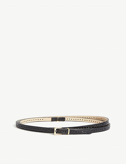 BLACK AND BROWN: Leather belt