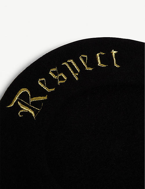 ITCHY SCRATCHY PATCHY Wool Respect beret