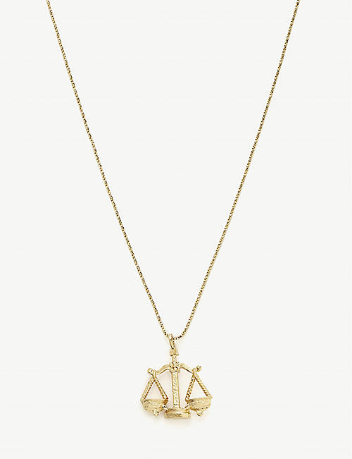 VANESSA MOONEY Libra 24ct gold-plated necklace