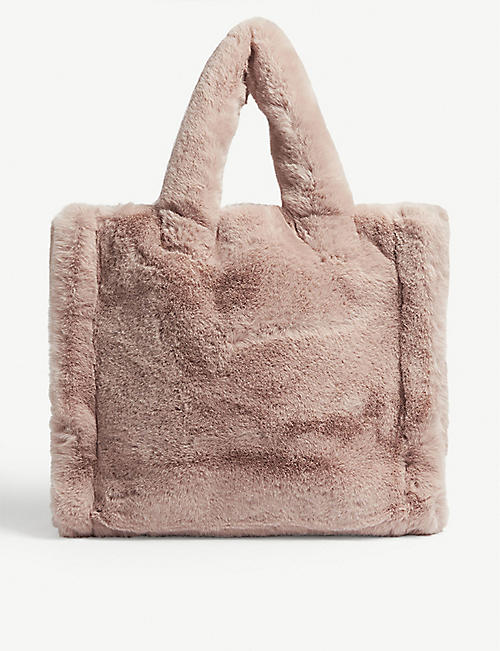 STAND Lolita faux-fur tote bag