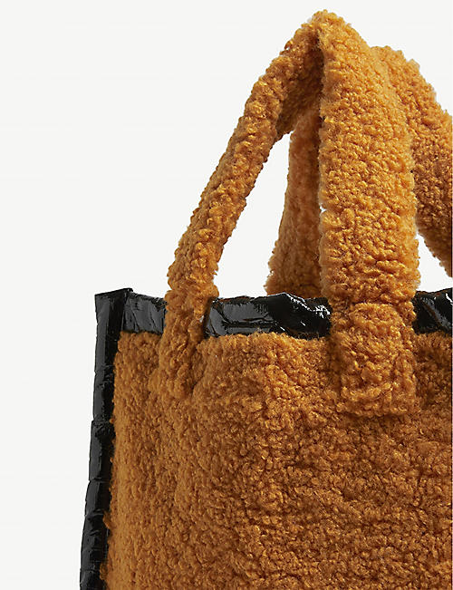 STAND Lolita shearling tote bag