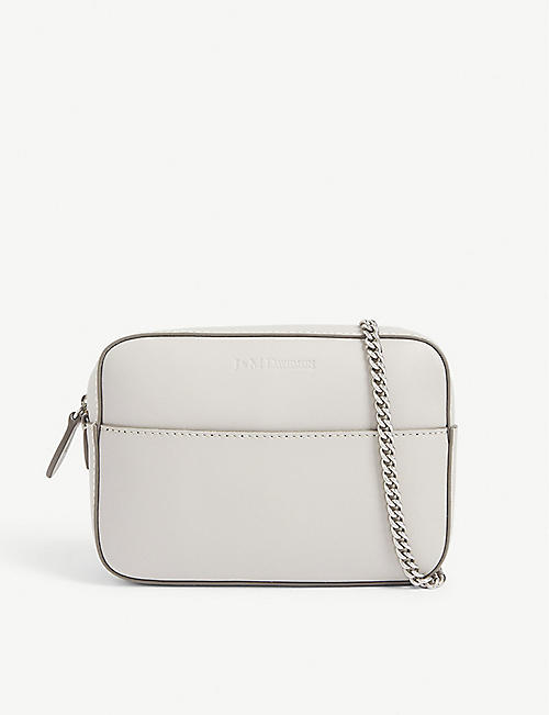 J & M DAVIDSON The Mini Chain Pebble leather bag
