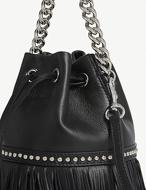 J & M DAVIDSON Mini Carnival fringed leather cross-body bag