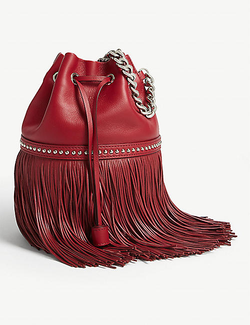 J & M DAVIDSON Medium Carnival fringed leather cross-body bag