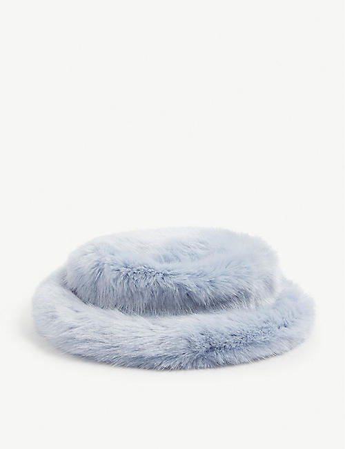 EMMA BREWIN Faux-fur Amelie bucket hat