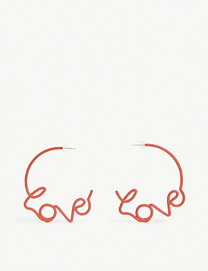 ZOE SHERWOOD Love stud earrings