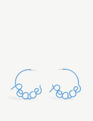 ZOE SHERWOOD Peace stud earrings